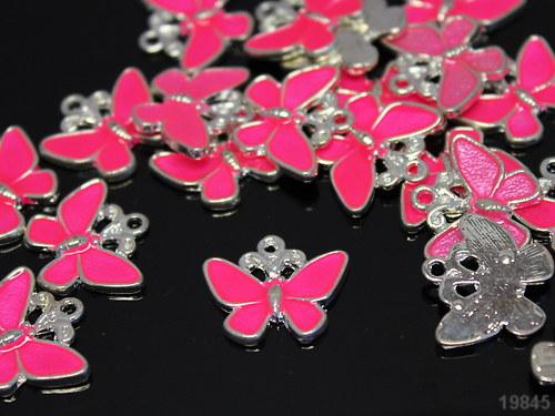 19845 Přívěšek krásný motýl růžový, á 1ks