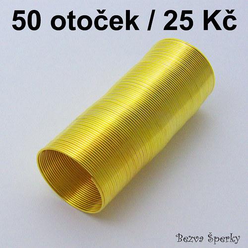 Prstýnkový paměťový drát, 50 otoček