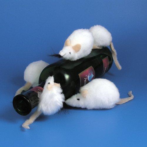 Bílá myška - autorská hračka