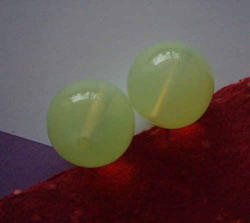 Velké skleněné perle - 2 ks