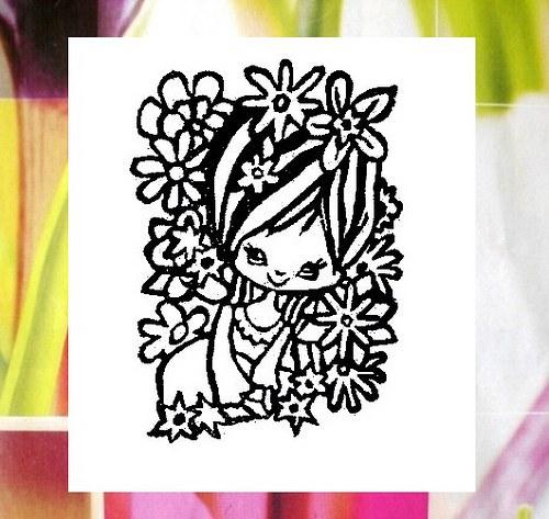 Fée des fleurs... Omyvatelné.