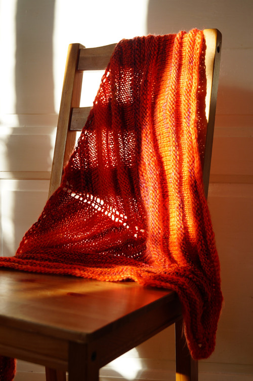 Pletený šátek - vlněný pomeranč