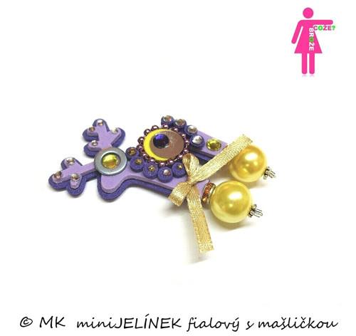 miniJELÍNEK fialový s mašličkou