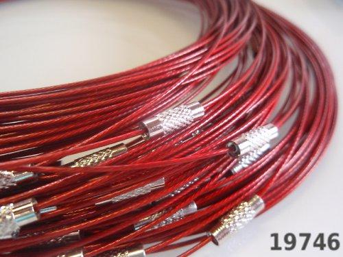 19746-B10 Lanko náhrdelník se šroubkem ČERVENÉ