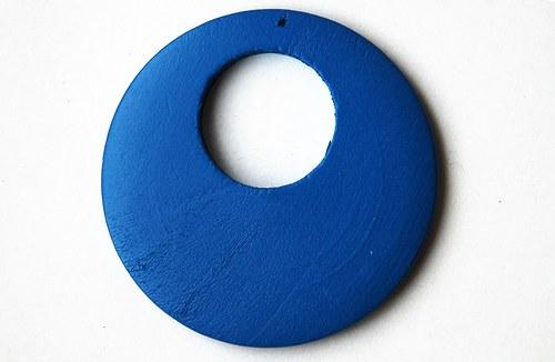 Dřevěné kolečko - světlé modré