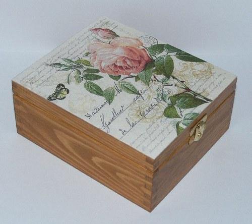 Krabička  či šperkovnice růžičková II.