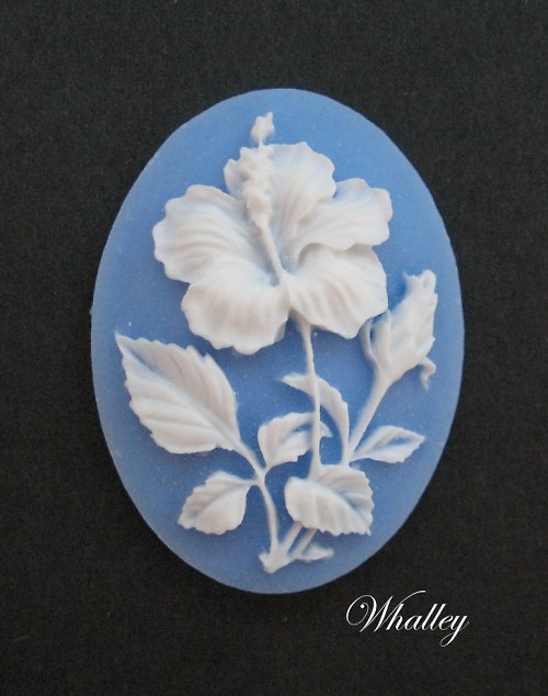 Cameo Hibiscus 40x30 mm 1ks