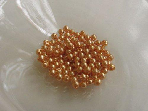 Vosková perla - zlatá 3 mm / 30 ks