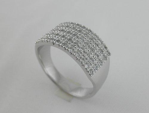 Pětiřadý zirkonový prsten