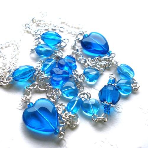 Srdíčkový náhrdelník -  SLEVA !!!