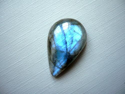 Kabošon - labradorit modrý 25 mm, č.194