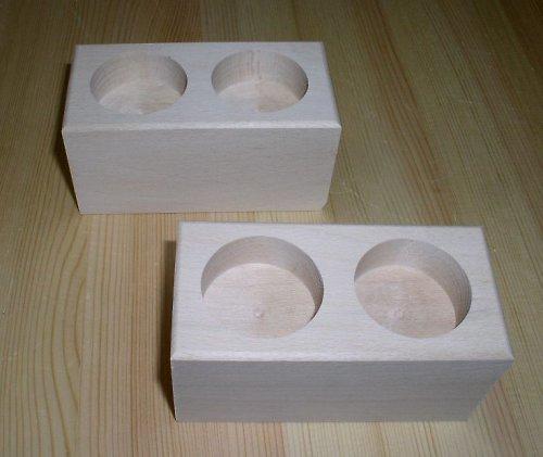 Svícen na dvě čajové svíčky DL402