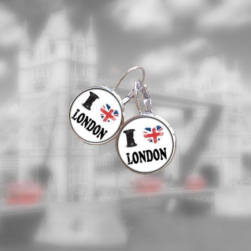 Visací náušnice I love London