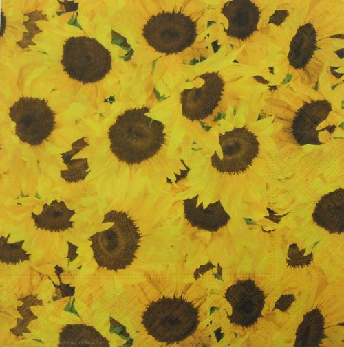 Ubrousek se slunečnicemi
