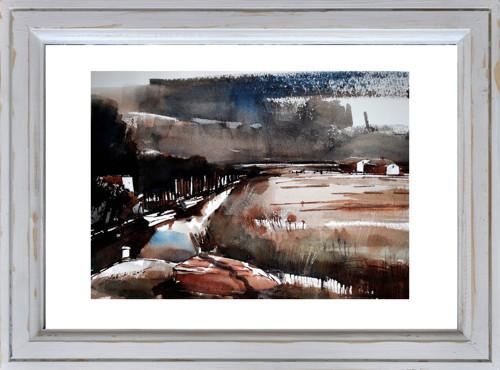 ...řeka u moře..../ or.akvarel Dlabal