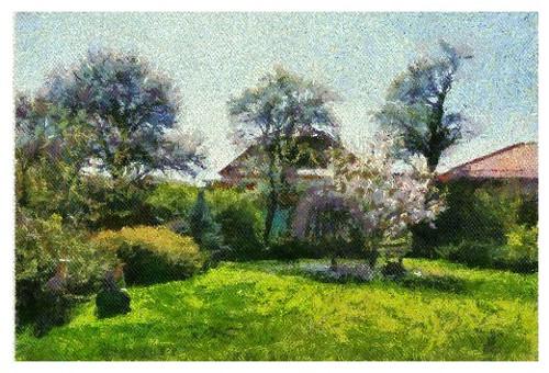 Jarní zahradou stromy tančí