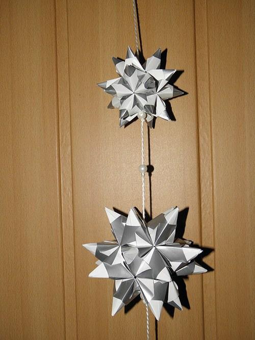 Vánoční kusudama - hvězda - závěs