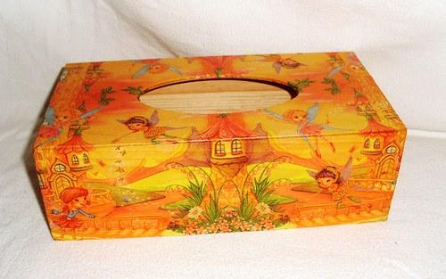 elfí krabička na kapesníky