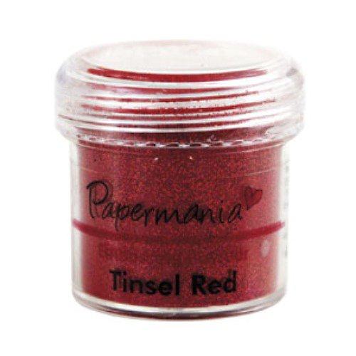 Prášek na embossing - TINSEL RED superčervená