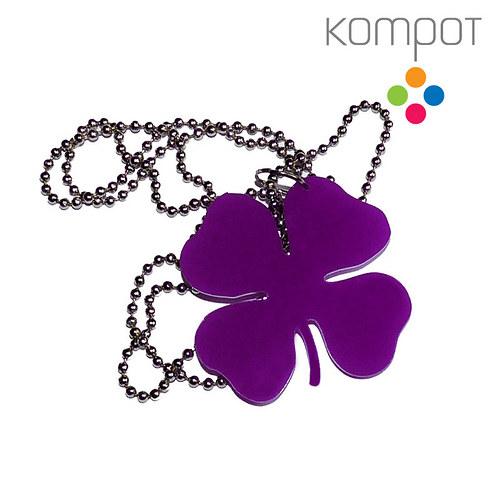 ČTYŘLÍSTEK, náhrdelník :: fialový