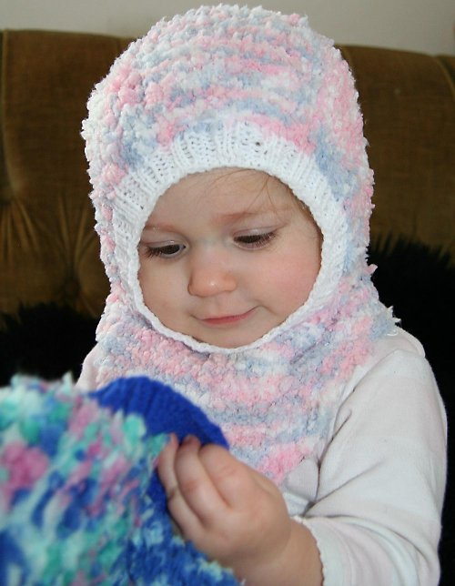 Kukla dětská pletená růžová