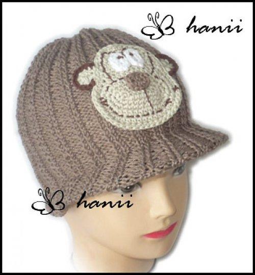 pletená čepice s pevným kšiltem