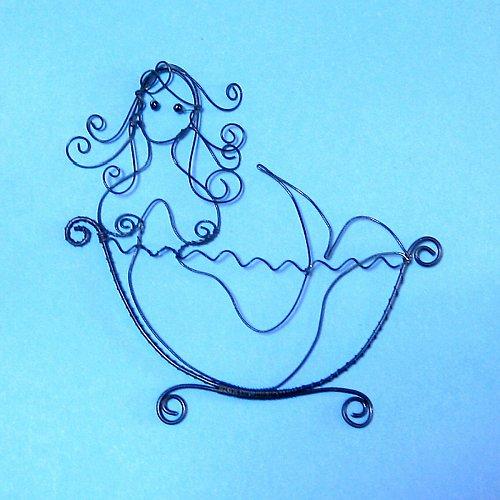 Cedulka na koupelnu Mořská panna