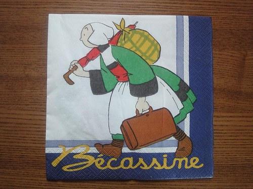 Ubrousek na decoupage - Becassine 3