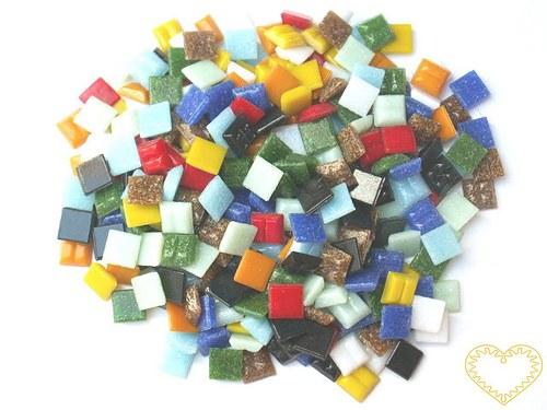 Barevná skleněná mozaika - sada 300 kusů