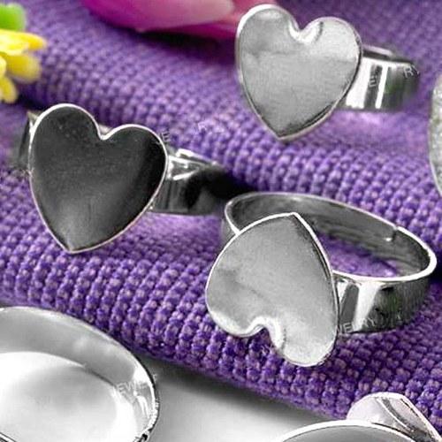 Prsten Srdíčko 12 mm - Stříbrné