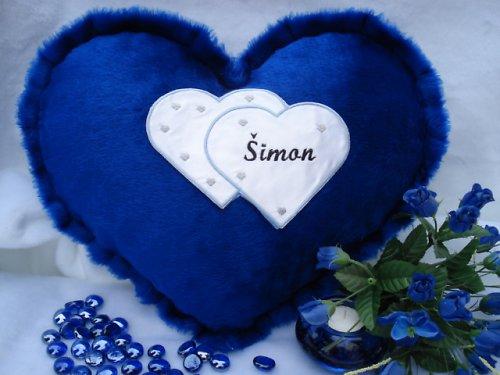 Polštářek srdce Šimon