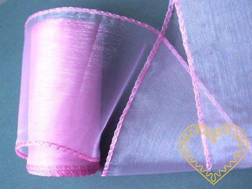 organza růžová, š=10 cm