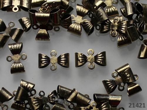 21421 Ramínka bronzová MAŠLIČKY 12/8mm, bal. 6ks