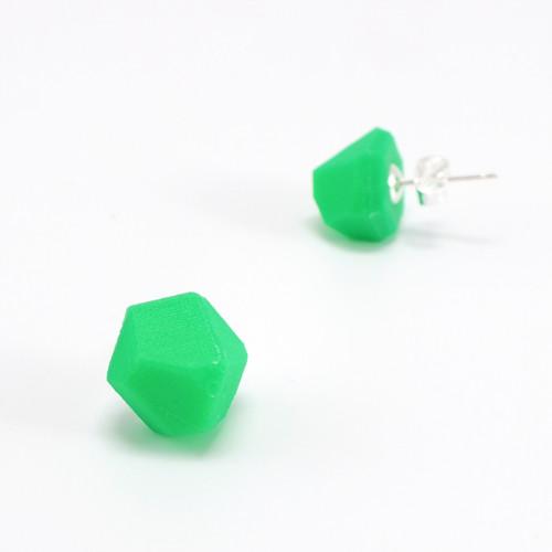 Náušnice krystal luminous green