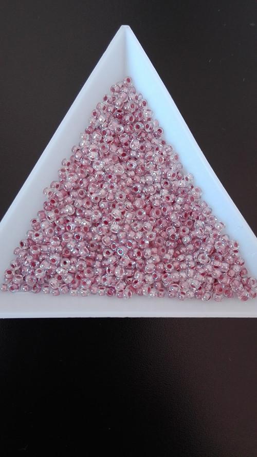 Rokajl 10/0 čirý s růžovým průtahem