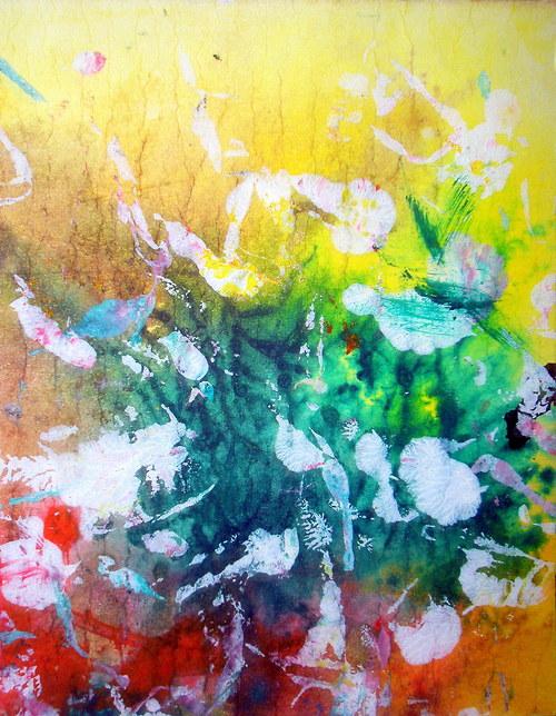 bouquet of colours - tisk na plátno.