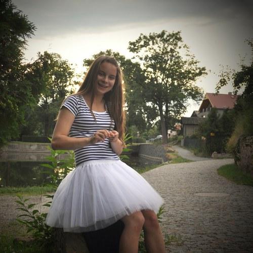 Bílá tylová sukně-SKLADEM
