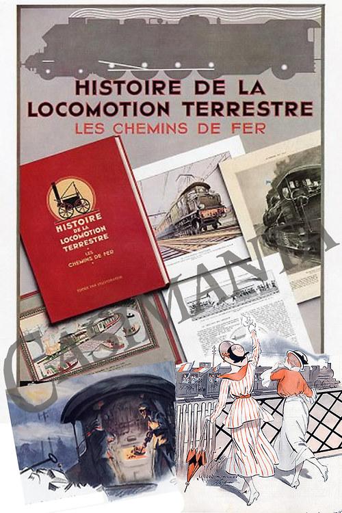 Historie lokomotiv - vintage motiv