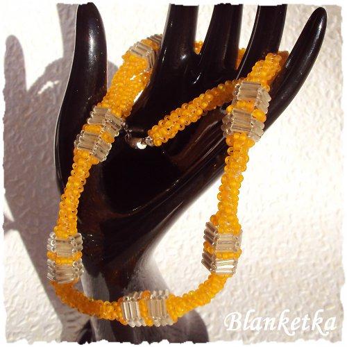 Ledová oranžáda...náhrdelník
