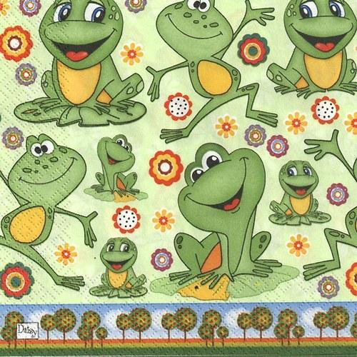 Ubrousek - legrační žáby