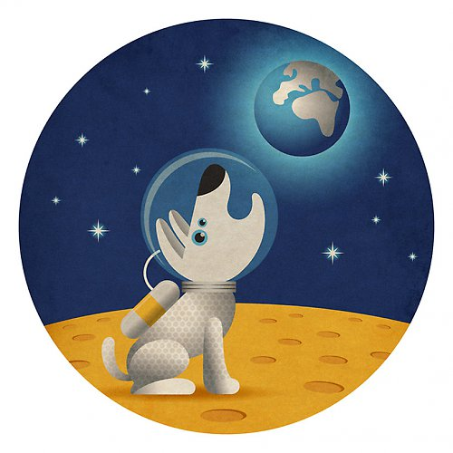 Dog on the Moon