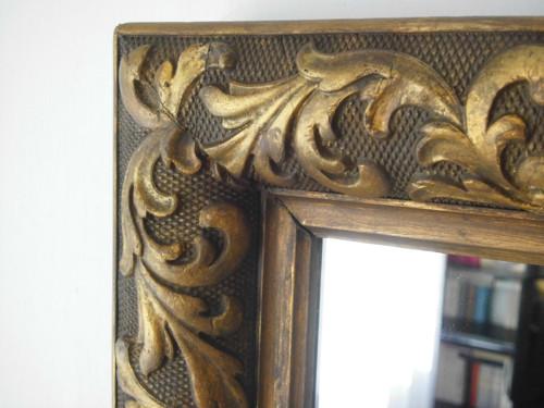 Zrcadlo v neobarokním rámu (90x45 cm)
