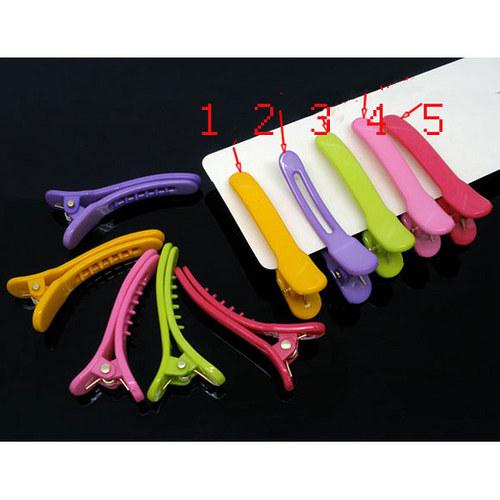 plast.sponka krokodýlek/ růžová č.4/ 42x6mm/ 2ks
