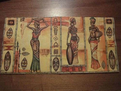 Ubrousek na decoupage - Afričanky