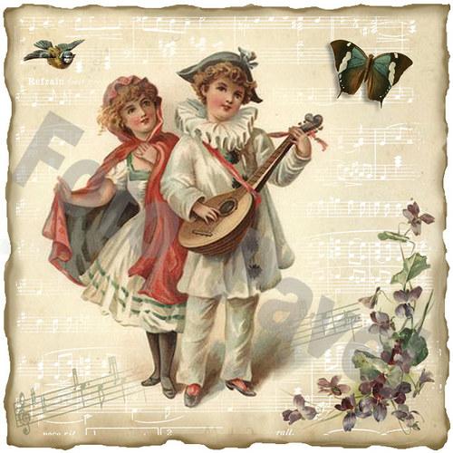 Vintage motiv - muzikanti