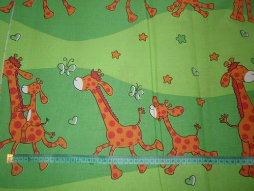 19101 Látka žirafy zelené ATEST DĚTI á 0,5m