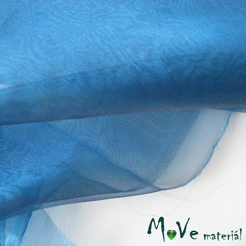 Organza modrá 150cm š/ 20 cm