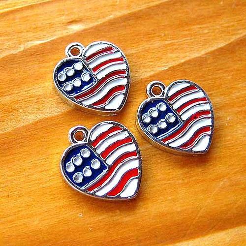 Srdcová Americká Vlajka