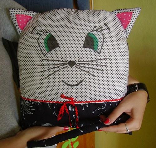 Polštářek kočička