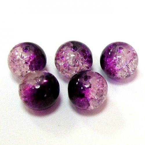 Práskačky - fialovobílé - 5 ks